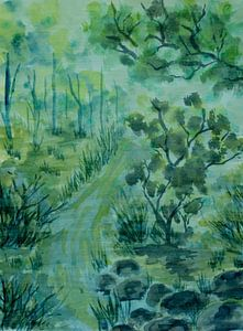 Düsterer Grüner Wald von ZeichenbloQ