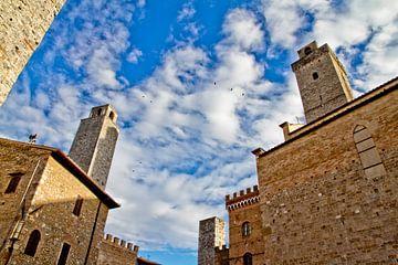 Delle torri di San Gimignano van Bas Koning
