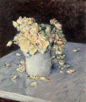 Gelbe Rosen in einer Vase, Gustave Caillebotte