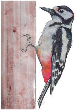 Rattenspecht-Vogel-Illustration von Angela Peters