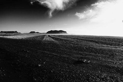 De lege vlakte van IJsland