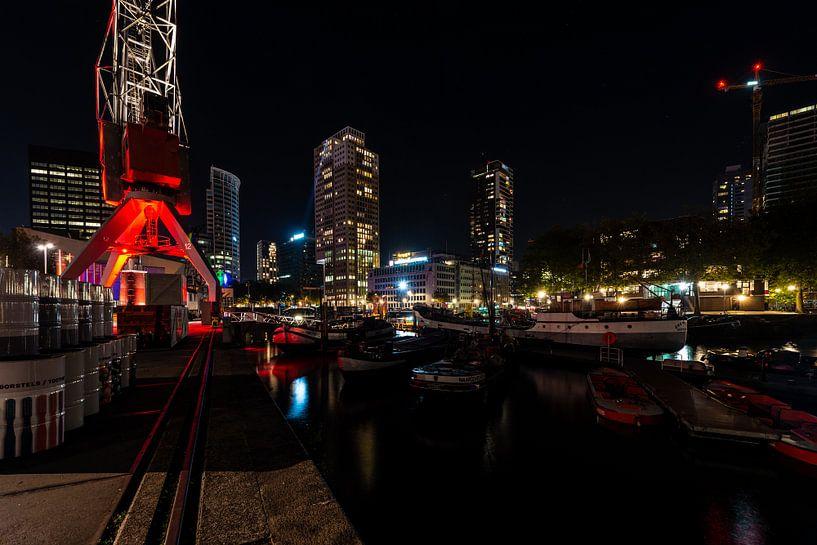 Rotterdam skyline over de haven van Brian Morgan