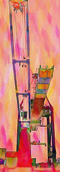 Containerkraan 2 Vibrant van Frans Jonker