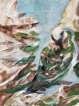 Meeting of sea and land van ART Eva Maria
