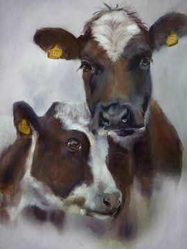 Peinture Vaches Cosy II sur Alies werk