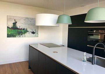 Kundenfoto: Mühle bei Zaandam, Claude Monet