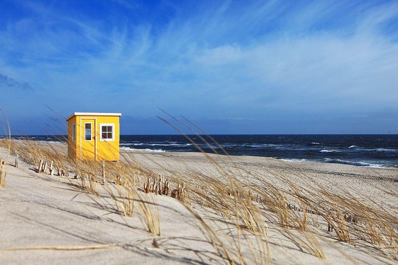 Huisje op het strand van Frank Herrmann