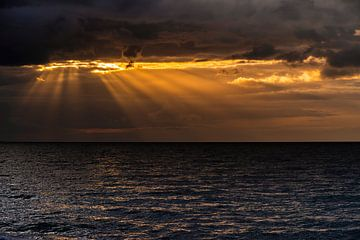Zonsondergang op Fehmarn van Stephan Zaun
