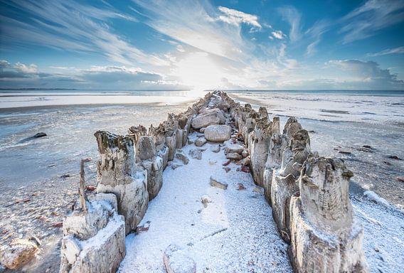 Winter in Hindeloopen van Tara Kiers