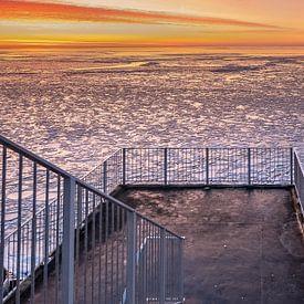Winters uitzicht op het IJsselmeer van Fotografiecor .nl
