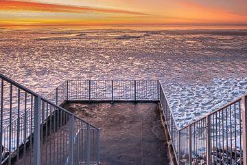 Winterblick auf das IJsselmeer von Fotografiecor .nl