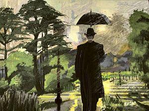 Regenschirm-Mann