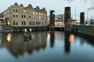 Schiedam, Oranjebrug met Nieuwe Haven