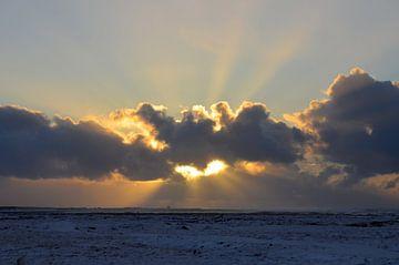 Zonsopkomst op IJsland van Willem Holle WHOriginal Fotografie
