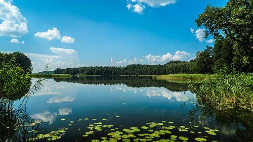 Zicht op het meer van