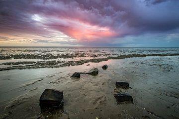 Zonsondergang over het wad van Martzen Fotografie