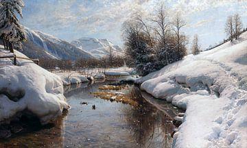 Winterzon in Engadin, PEDER MONSTED, 1914 van Atelier Liesjes