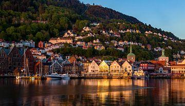 Sonnenuntergang in Bergen, Norwegen von Adelheid Smitt