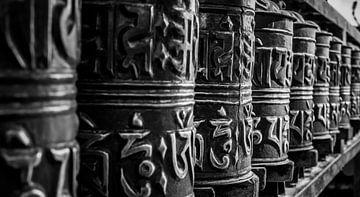 Roues de prières bouddhistes sur Roel Beurskens