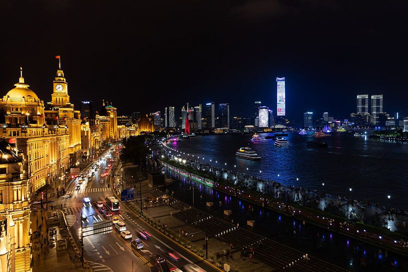 Shanghai on the Bund van Lynxs Photography