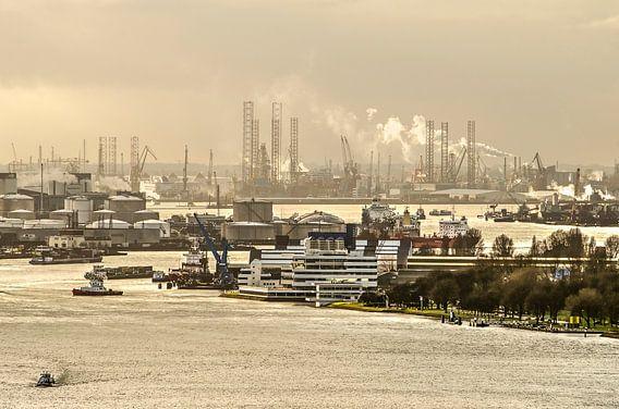 Le port de Rotterdam sur Frans Blok
