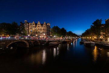 Papeneiland in Amsterdam bei Nacht von Mike Bot PhotographS