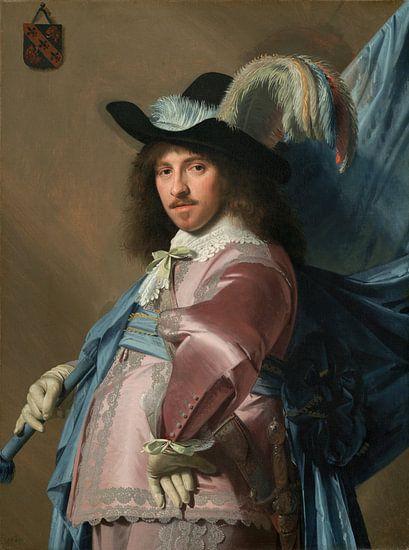 Portret van Andries Stilte als Vaandeldrager, Johannes Cornelisz Verspronck van Meesterlijcke Meesters