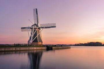 Helpermill, Haren, Groningen | Wunderschöner Sonnenuntergang an der Mühle von Hessel de Jong