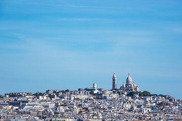 Blick auf die Basilika Sacre-Coeur in Paris, Frankreich von