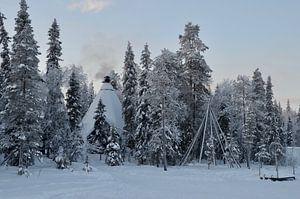 Tipi in Lapland van Marcel Schouten
