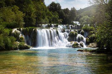 waterval in kroatie van
