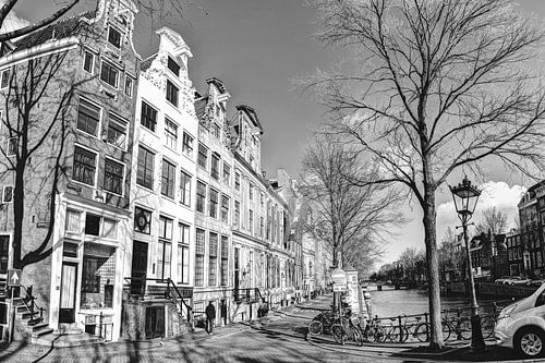 Keizersgracht Amsterdam Winter Zwart-Wit