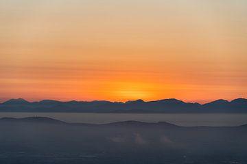 Sonnenuntergang von Lion's Head Cape Town von Sander Huizinga