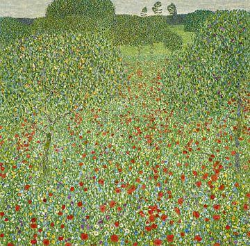 Mohnwiese (Die Nachlese), Gustav Klimt