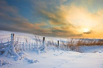 Sonnenaufgang Winter von Peter Bolman