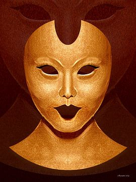 Bladgouden Masker van Ton van Hummel (Alias HUVANTO)