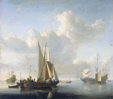 Schepen voor de kust, Willem van de Velde (II) von Meesterlijcke Meesters