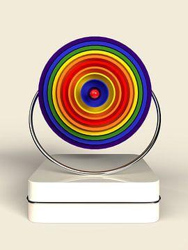 Kreis im Kreis Regenbogen von shoott photography