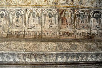 Wandmalereien aus einem alten Tempel