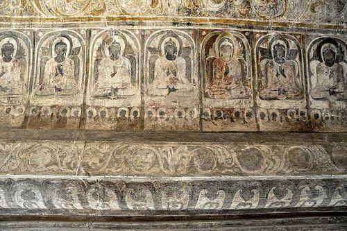 Muurschilderingen uit eeuwenoude tempel