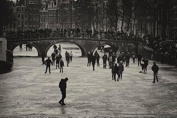 Schlittschuhlaufen auf dem Kanal von FotoBob