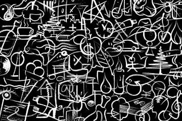 Krijt symbolen van Achim Prill