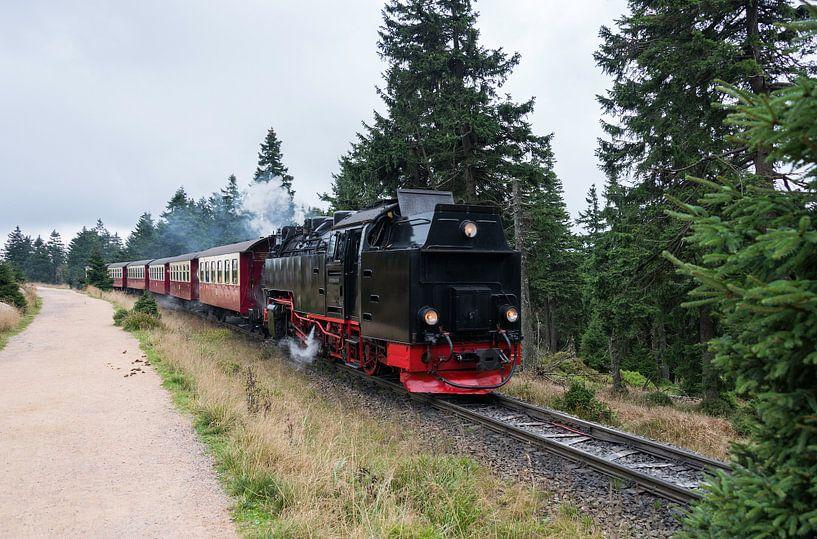 steam train from brocken station im Harz van Compuinfoto .