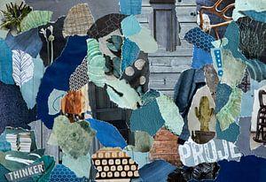 Inspiration Recycling-Collage in skandinavischer Retro-Atmosphäre