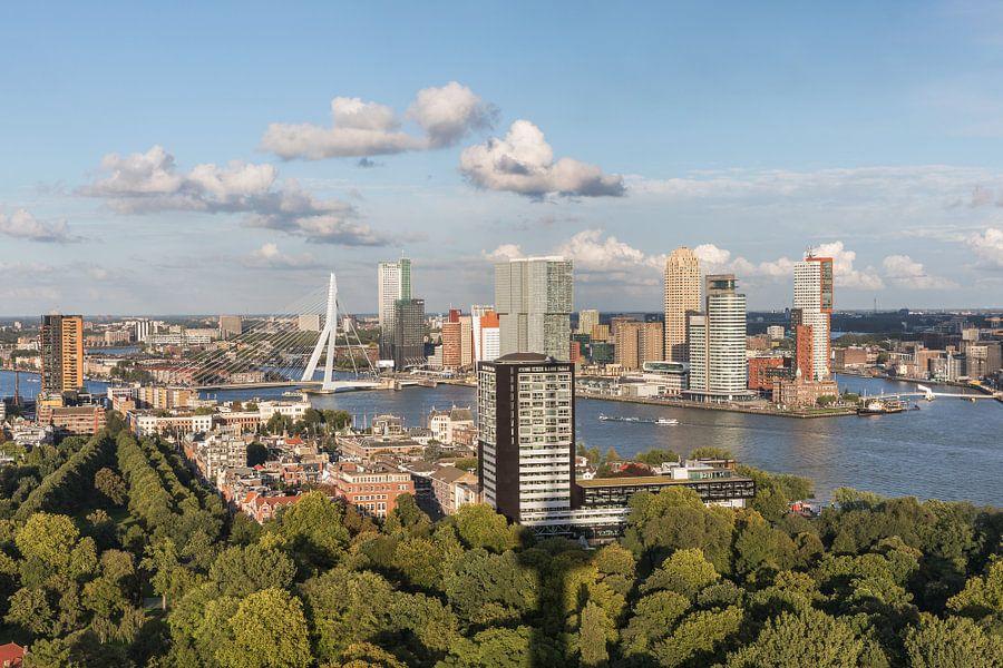 Het stadspark van Rotterdam vanaf de Euromast van MS Fotografie
