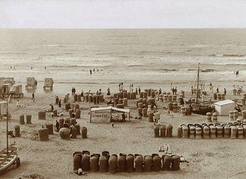 Strand in Zandvoort mit Limonadenzelt, Knackstedt & Näther, 1900 - 1905