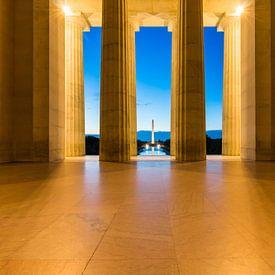 Washington Monument bij Ochtend van Frenk Volt