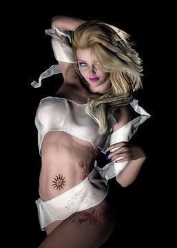 Beauty Girl mit Wrap von Brian Raggatt