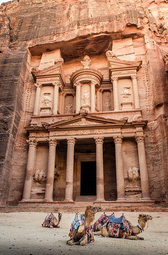 De schatkamer (treasury) Petra Jordanië