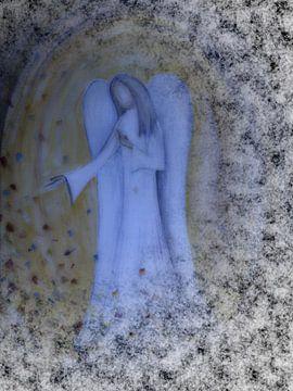 Engel het schilderen - beschermengel, van Christine Nöhmeier
